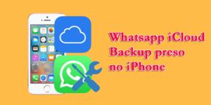 Whatsapp iCloud Backup preso no iPhone