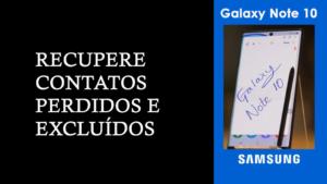 recuperar contatos perdidos do Samsung Galaxy Note 10